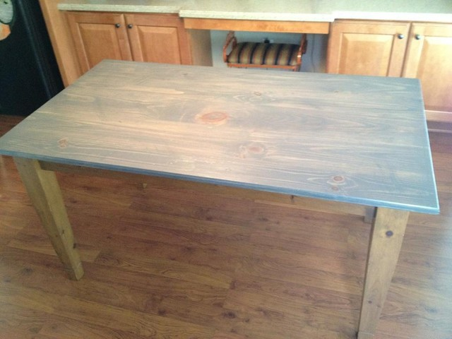 Rustic Table Coastal Grey Dining Tables Atlanta By What Wood You Like