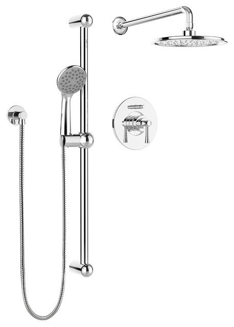 Belanger Pressure Balanced Diverter Dual Shower Head Complete Shower System