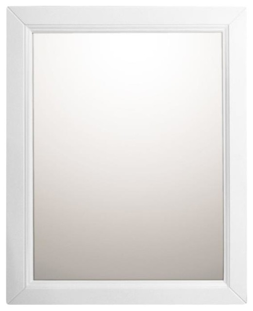 "Bellaterra 24"" Mirror Cabinet Wood, White."