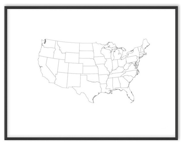 US Map Coloring Poster - Contemporary - Prints And Posters - by MapCrate