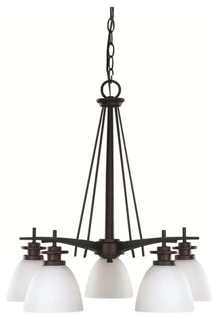 Canarm New Yorker 5 Light Chandelier in Oil Rubbed Bronze