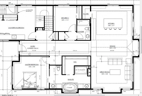 TV over the Fireplace? Help! I am struggling with giving the okay to our house plans. We break ground in April. The dilemma is wanting the television at eye level when seated and also having a fireplace. As you can see I am thinking of having the TV on one wall and the fireplace on another. Is this ...