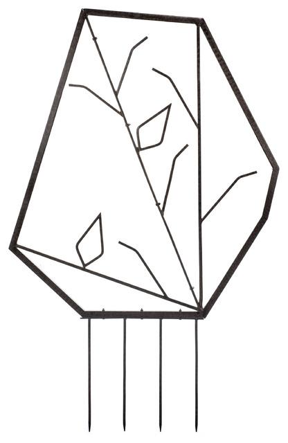 Iron Trellis, Geometric Modern Design, Metal Trellis, Small.