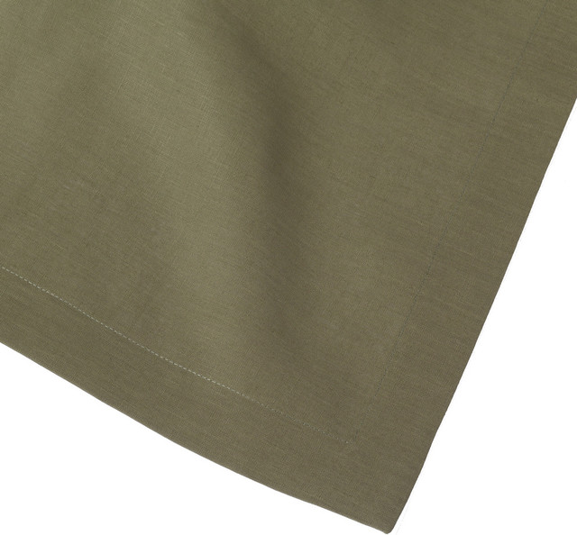 Sage Olive Green Linen Table Runner 14x90 Contemporary Table Runners