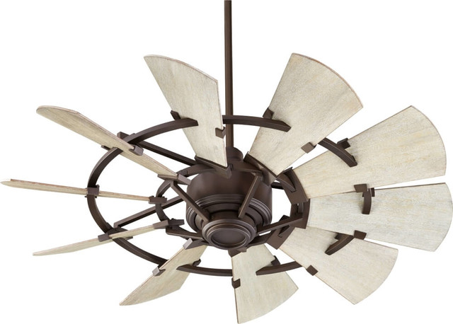 44 Windmill Oiled Bronze Transitional Ceiling Fan Farmhouse Ceiling Fans By Designer Lighting And Fan Houzz