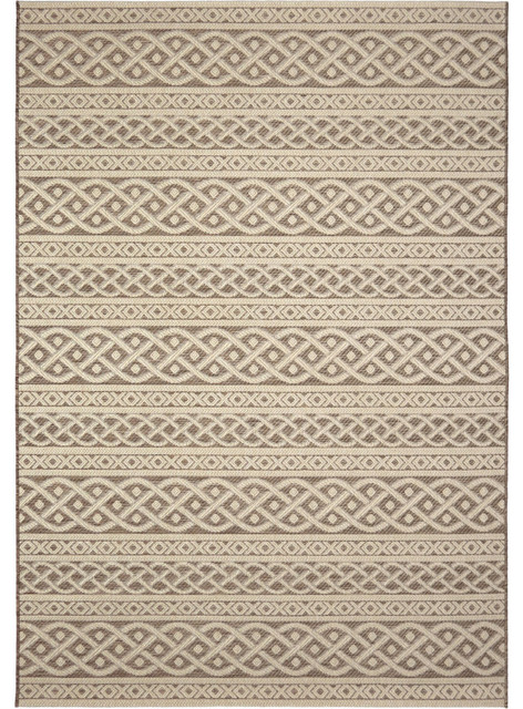 Orian Indoor Outdoor Jersey Home Organic Cable Area Rug