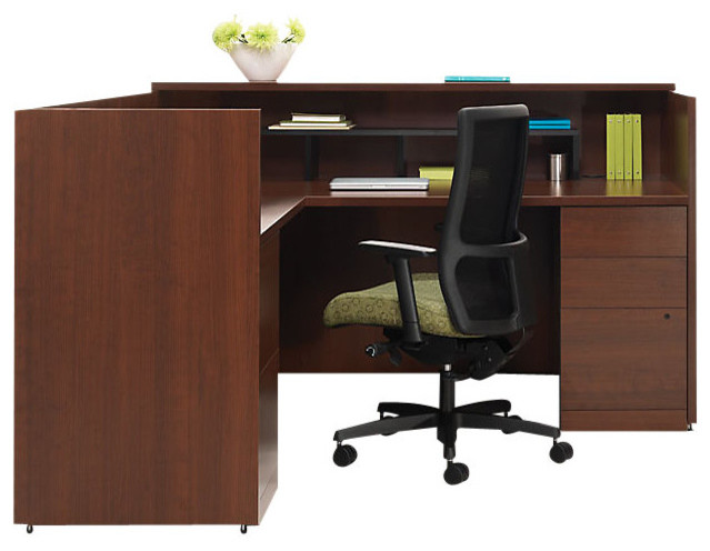 the hon company 10500 reception desk 1 desks and hutches houzz