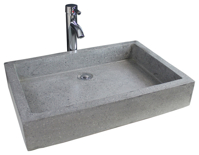 Timbre Bathroom Vessel Sink, Anthracite, 60 cm