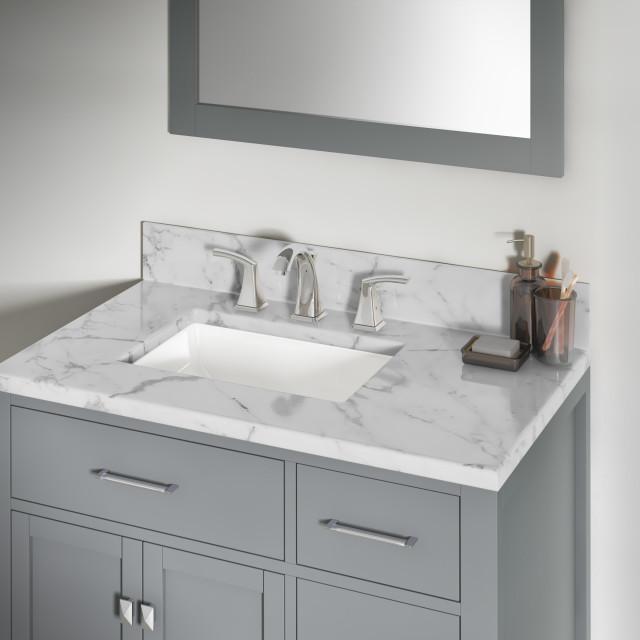 12 X16 X7 5 Porcelain Rectangular Undermount Bathroom Vanity Sink Contemporary Bathroom Sinks By Allora Usa Houzz