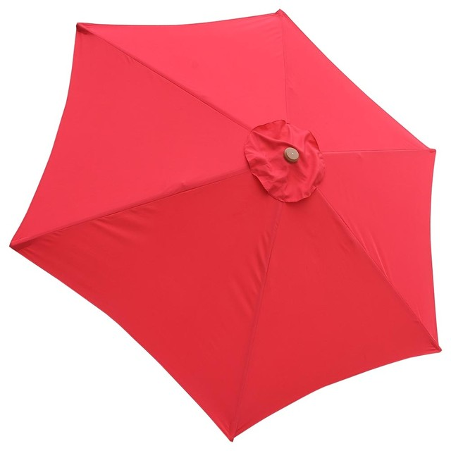 6-Rib Umbrella Replacement Canopy Cover Red contemporary-outdoor-umbrellas  sc 1 st  Houzz & YesHom - 6-Rib Umbrella Replacement Canopy Cover - View in Your ...
