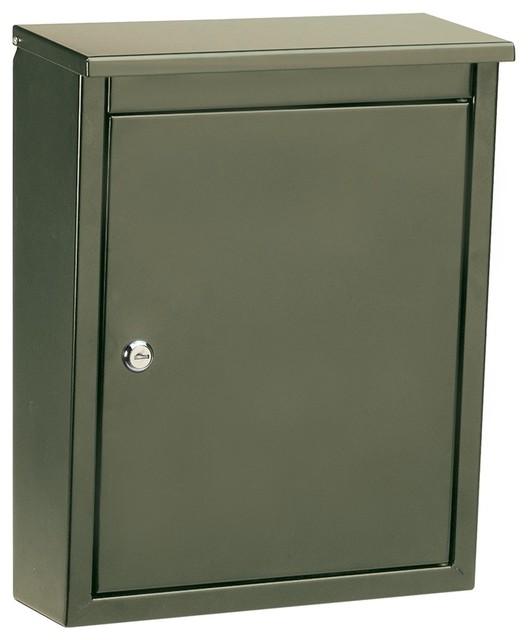 soho locking wall mount mailbox bronze