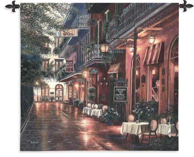 "Carmen Leggio New Orleans Wall Tapestry, 54""x53""."
