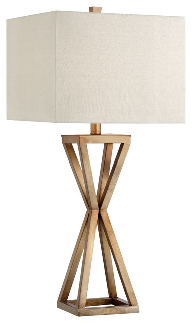 "Catalina Ezra 31"" 3-Way Gold Open Caged Metal Table Lamp, Bulb Included."