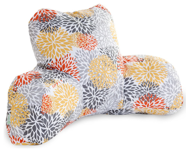 Outdoor Citrus Blooms Reading Pillow - Contemporary - Floor Pillows And Poufs - by Majestic Home ...