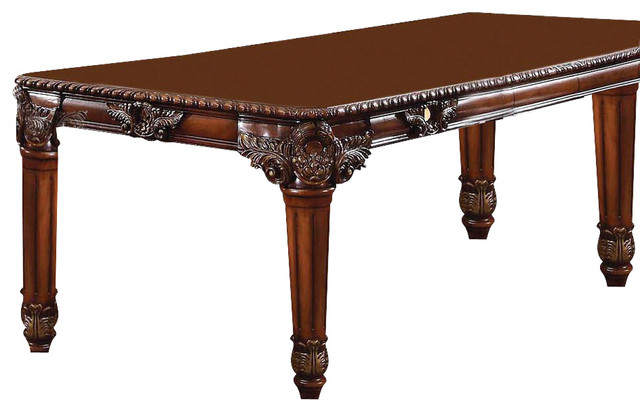 Acme Winfred Rectangular Dining Table Cherry Victorian Dining