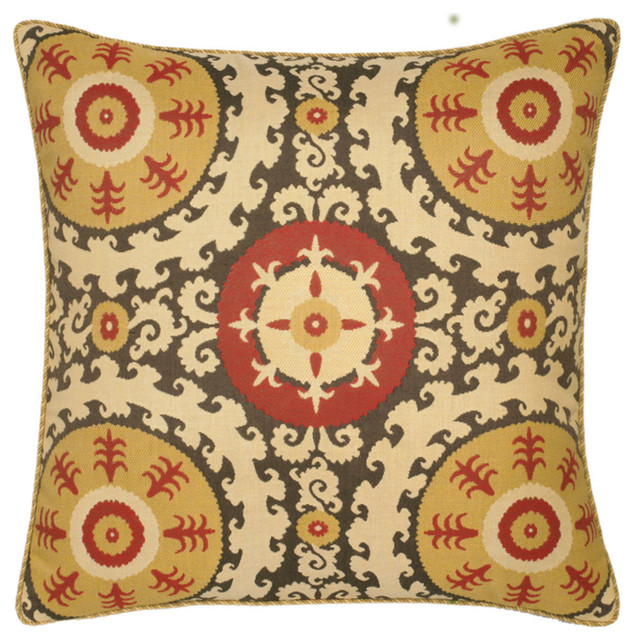 Great Elaine Smith Suzani Pillow Mediterranean Outdoor Cushions And Pillows