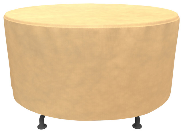Budge All Seasons Round Patio Table Cover 48 X28 Contemporary Outdoor Furniture Covers By Budge