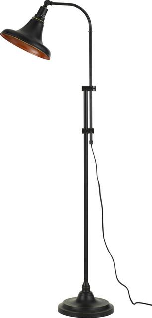 Taranto Metal Adjustable Floor Lamp, Dark Bronze.