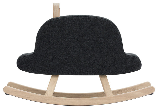 Iconic Bowler Hat Rocking Horse