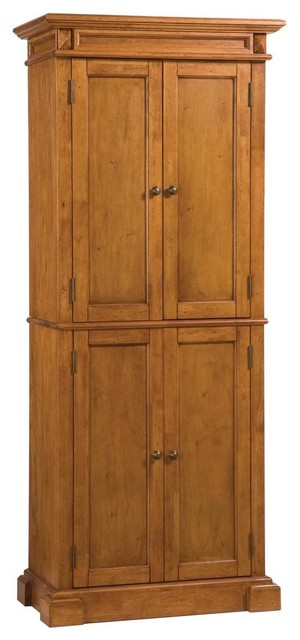 Home Styles Kitchen Pantry In Distressed Oak Finish Traditional Pantry Cabinets By Home Styles Furniture