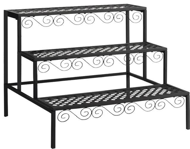 Tierra Garden Middle Plant Stand Traditional Plant Stands  And Telephone Tables