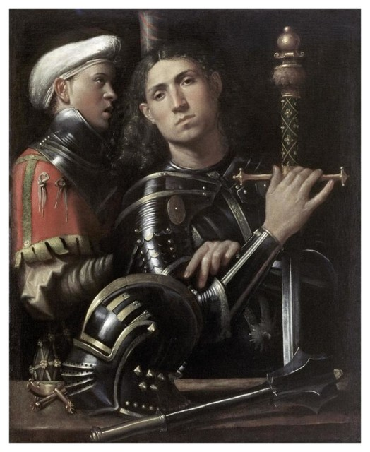 """""""Portrait of a Man In Armor With His Page"""" Print by Giorgio Giorgione, 15""""x18"""""""