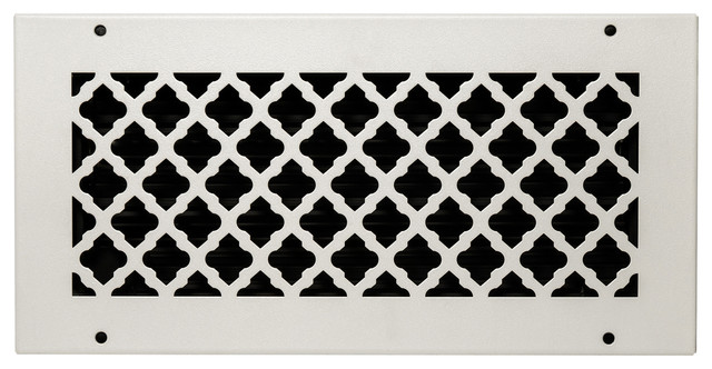 Bronze Series Solid Steel Supply Vent Cover, White.