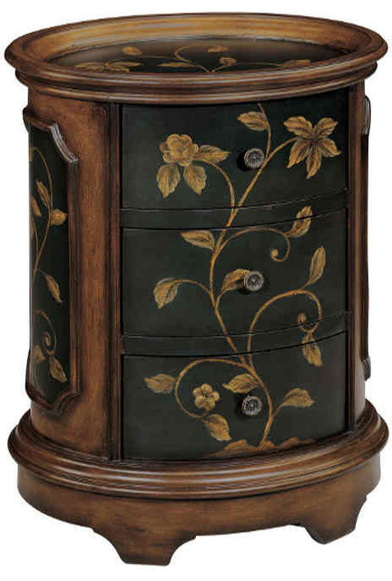 Stein World Ophelia Accent Table Brown Black 42527