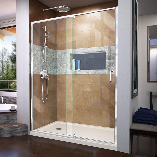 Flex 34 Quot X60 Quot X74 3 4 Quot Pivot Shower Door And Slimline Shower