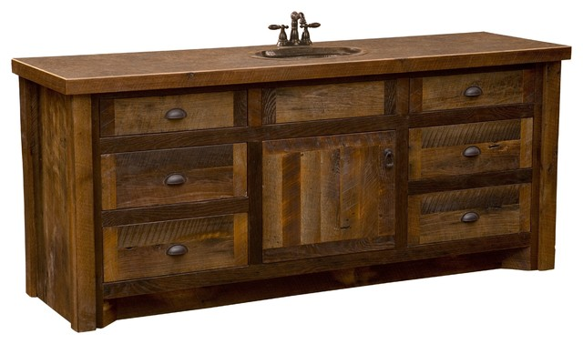 Barnwood Vanity Without Top 72 Sink Center Rustic Bathroom Vanities And Sink Consoles By Rustic Deco Houzz