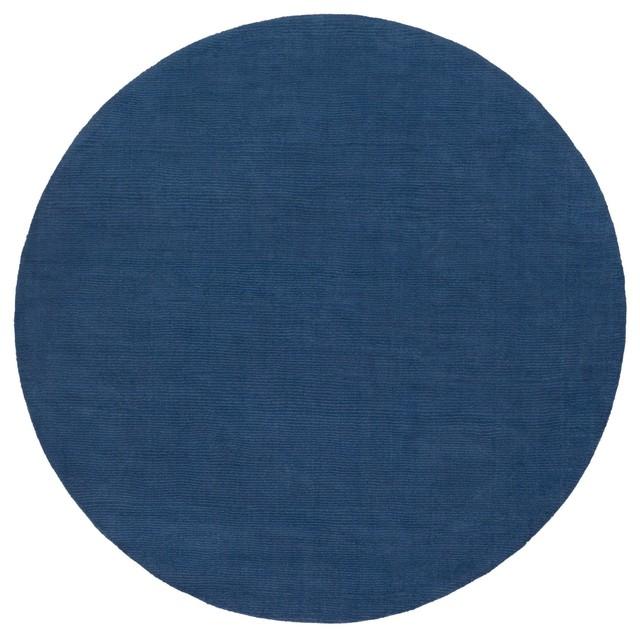 "Surya Mystique M330 Blue Tone on Tone Area Rug, Round 9'9""x9'9"""