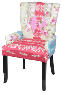 Gentil Patchwork Armchair Fabric Upholstery   Eclectic   Armchairs And Accent  Chairs   By VidaXL