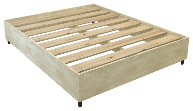 Valencia Mid-Century Queen Bed - Transitional - Platform Beds - by ...