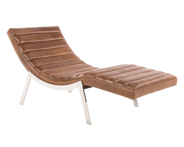 Benedict chaise contemporary indoor chaise lounge for Brown chaise lounge indoor