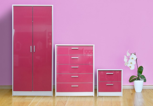 pink and white gloss bedroom furniture khabat high gloss bedroom furniture set pink gloss 20762