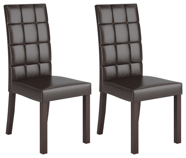 Atwood Dining Collection Atwood Dark Brown Leatherette Dining