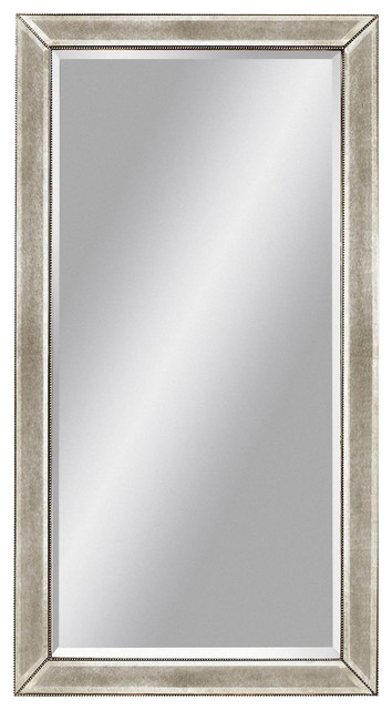 Basset Mirror Company Beaded Leaner Mirror Contemporary