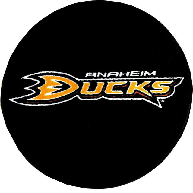 Anaheim Ducks Hockey Puck Area Rug Traditional Area