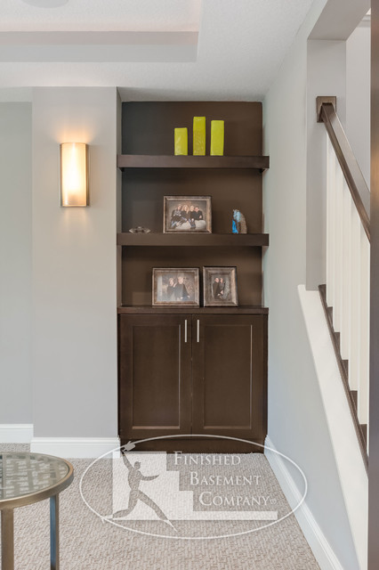 Basement Built In Shelves Traditional Minneapolis By