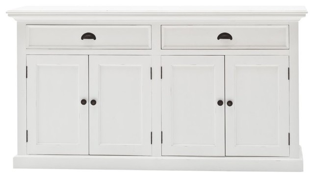 Halifax White Wooden Sideboard Coastal Sideboards By