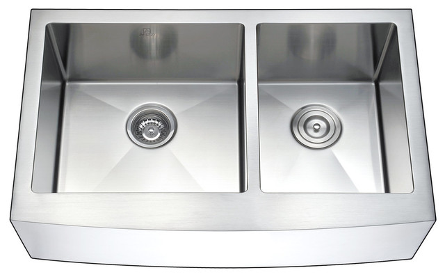 Anzzi Elysian Farmhouse Stainless Steel Kitchen Sink W/manis Faucet.