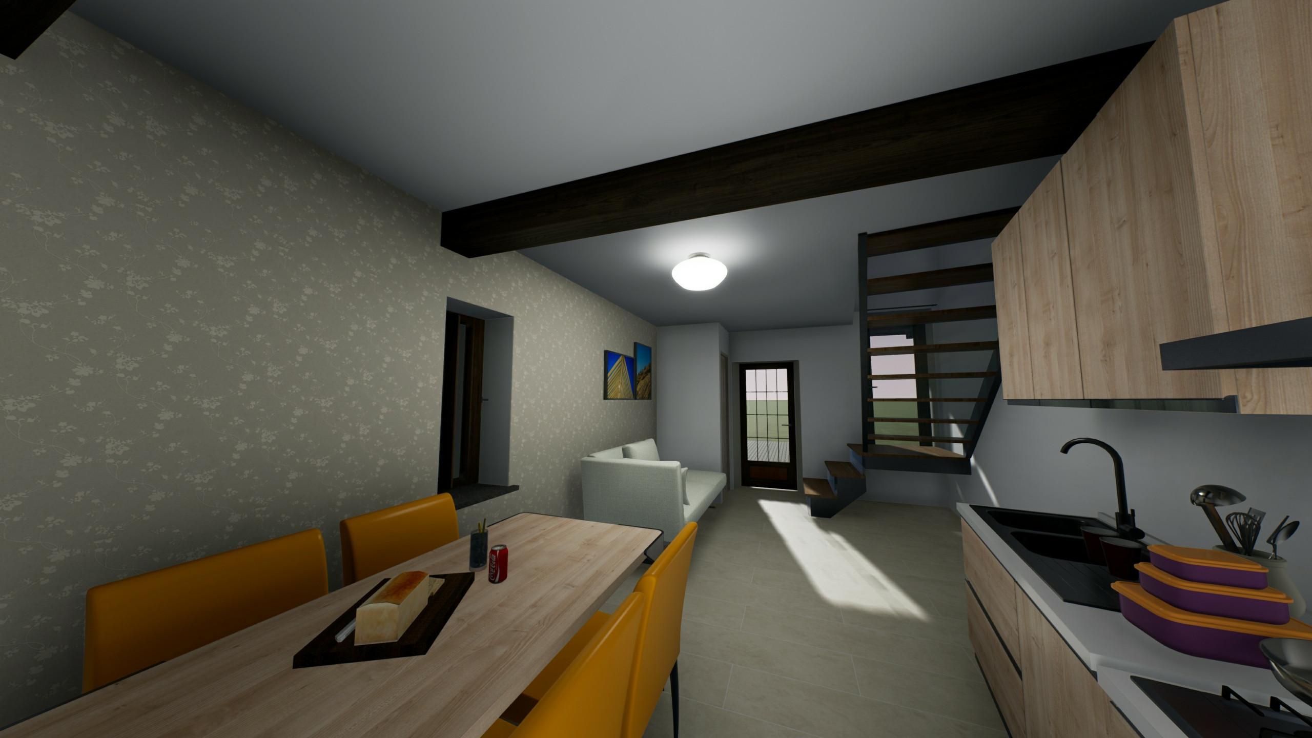 interni con scala a vista