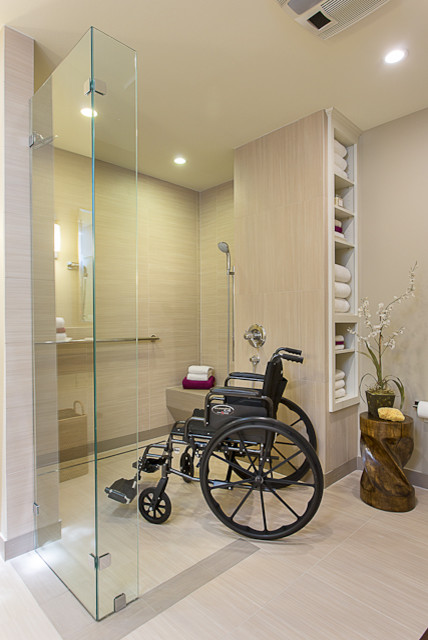 accessible barrier free aging in place universal design bathroom remodel modern