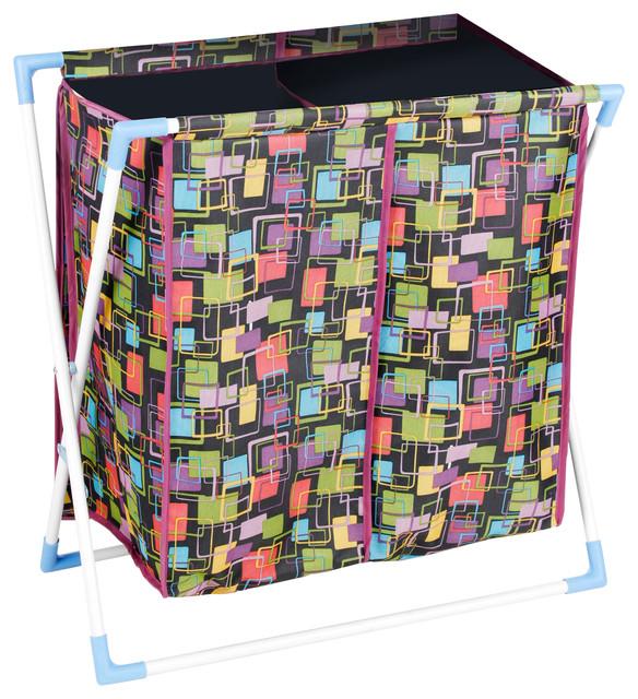 Bonita Deux Laundry Basket, Square Print.