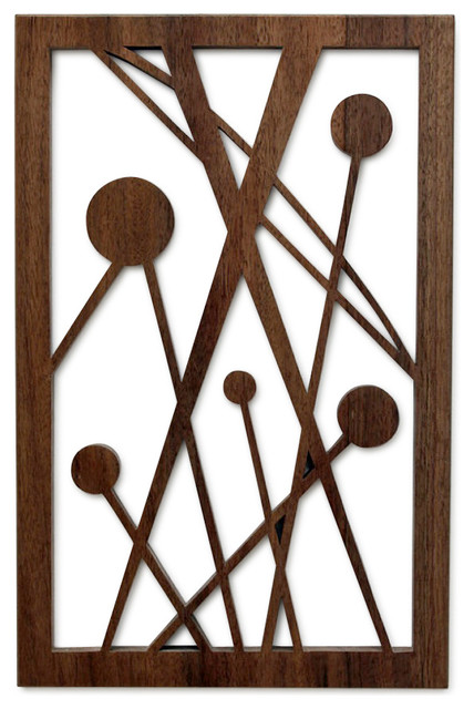 Five Disks in Space Fretwork - Midcentury - Wall ...