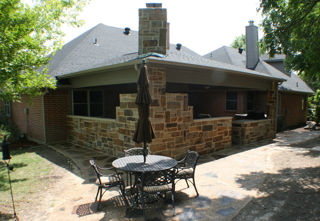Fort Worth Burleson Covered Patio, Outdoor Fireplace, and ...