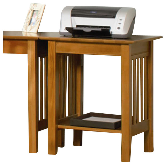 Atlantic Furniture Mission Printer Stand in Caramel Latte ...