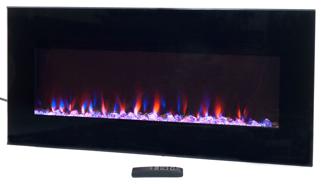Wall Mounted Led Electric Fireplace With Remote 36