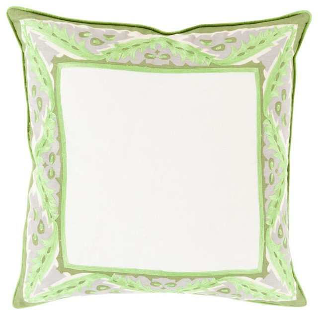 """Surya Eugene EUG-002 Animal Pillow, Square 20""""x20"""" Cover With Polyester Insert"""