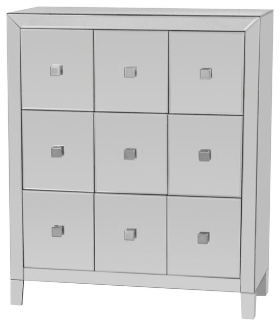 Reflections Mirrored Multi Drawer Cabinet - Contemporary ...